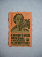 """""""Comptoir Suisse Lausanne 1931"""" 1 Bollo ERINNOFILO - Cinderellas"""