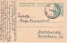 YUGOSLAVIA 1964 Buildings 15 (d) Postal Stationery Card, Used.  Michel P163 I - Ganzsachen