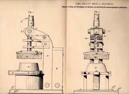 Original Patentschrift - C.A. Bielig In Bockwitz B. Colditz I.Sa., 1900, Stanzapparat Für Absätze , Schuhe , Schuhmacher - Maschinen