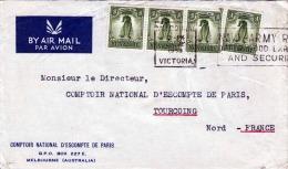 AUSTRALIA 1953, 4 Fach Frankierung Auf LP-Brief Marke Mit Sonderstempel - 1952-65 Elizabeth II: Dezimalausgaben (Vorläufer)