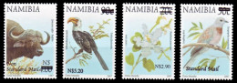 (40) Namibia (SWA) / Namibie  Nature Overprints / Surcharges / Aufdrucke / Opdruks  ** / Mnh Michel 1158-61 Typ I - Namibia (1990- ...)