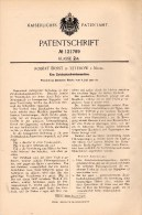 Original Patentschrift - Robert Ernst In Teterow I. Mecklenburg , 1900 , Zwieback - Schneidemaschine , Bäckerei , Bäcker - Máquinas