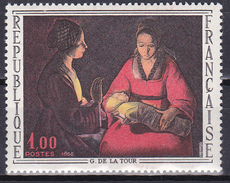 Timbre-poste Neuf** - Oeuvres D'art Le Nouveau-Né De Georges De La Tour - N° 1479 (Yvert) - France 1966 - Nuevos