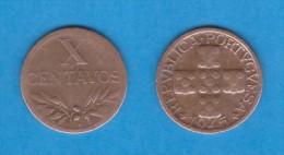 PORTUGAL  X  CENTAVOS  1.945  Bronce  KM#583   MBC/VF   DL-10.699 - Portugal