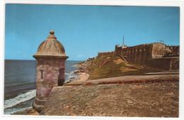North Wall San Juan Castillo San Cristobal Puerto Rico Postcard - Puerto Rico