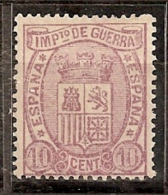 ESPAÑA 1875 - Edifil #155 Sin Goma (*) - Unused Stamps