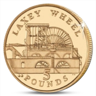 ISLE OF MAN 5 POUNDS LAXEY WHEEL 2013 UNC - Regional Coins