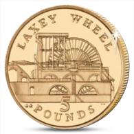 ISLE OF MAN 5 POUNDS LAXEY WHEEL 2013 UNC - Monnaies Régionales