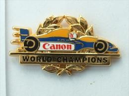 Pin´S FORMULE 1 - WILLIAMS RENAULT - WORLD CHAMPION CANON ARTHUS BERTRAND - F1