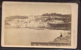 2126 Italy Naples Coast 6,8 X 10,8cm Visit Portrait 1880-1890s Fot. A. Bernoud - Photographs