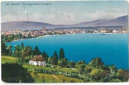 Cologny - Vue Vers Genève              Ca. 1910 - GE Ginevra