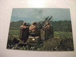 Esercito Militari Soldati Cannone Contraereo 35 Mm - Manovre