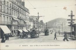 76 - ROUEN - Seine Maritime - Quai De Paris Et Vue De La Côte Sainte-Catherine - Rouen