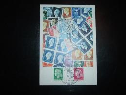 CARTE TP MARIANNE DE CHEFFER 0,30F + 0,40F OBL. 11 JANV 1969 REPUBLIQUE PARIS PREMIER JOUR (75) - 1967-70 Marianne De Cheffer
