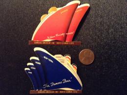 US, Vintage Cinderella Stamps (x2) - Hamburg American Line - North German Lloyd - Erinnofilia
