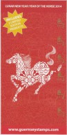 Guernsey Brochure Philatelic News 2014 - Lunar New Year Year Of The Horse - Guernsey