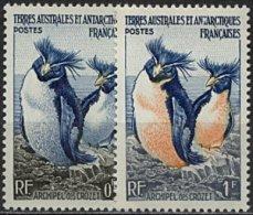TAAF, N° 002 à N° 003** Y Et T, Manchots Gorfous , 2 3 - Terre Australi E Antartiche Francesi (TAAF)