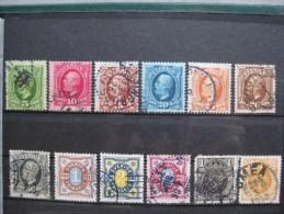 Timbres Suede : Roi, Chiffres Et Couronne 1891 & - Gebraucht