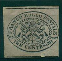 STATO PONTIFICIO1867  STEMMA 3 C. GRIGIO S.G. NON DENTELLATO - Etats Pontificaux