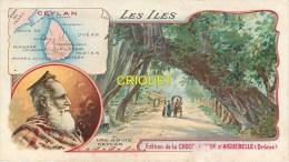 Chromo Aiguebelle, Les Iles, Ceylan, Scan Recto Verso - Aiguebelle
