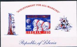 Liberia Space Raumfahrt Weltraum Block 48 B Ungezähnt Proof Apollo 11 July 1969 - Space