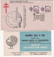 FDC + Information On Robert Kochs, Tubercle Bacillus, Health, Disease, Bacteria, Medicine, Nobel Prize, India 1982 - Maladies
