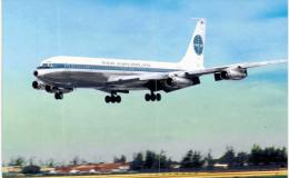 Thème -  Avion - Aviationcards 12 - Pan American Airways Boeing 707 - Format 8.5*13.5  Cm - - 1946-....: Moderne