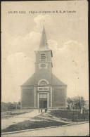 Cpa Grand Leez église Et Grotte - Eghezée