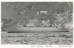 ( CP SM PF BATEAU DE GUERRE )  CLIO  /  Chasseur  -  19-6-1973  - - Warships
