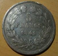 5 FRANCS LOUIS PHILIPPE 1er 1841 W - France