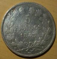 5 FRANCS LOUIS PHILIPPE 1er 1843 B - France