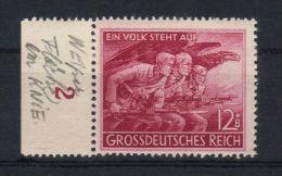 08004 Mi. 908 IX ** Postfrisch Variété Plattenfehler Tache Blanche Sur Le Genou Fleck Auf Der Knie