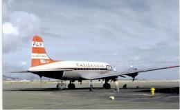 Thème -  Avion - Aviationcards 85 - California Hawaiian Arilines - Douglas DC 6 - Honolulu - Format 8.5*13.5  Cm -
