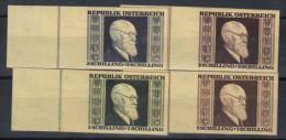 08686 Renner Imperforate Non Dentelés ** 634/637 ND - 1945-.... 2ème République