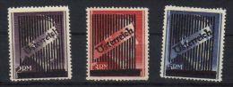08689 Autriche 1945 Effigie Hitler Surchargés Grosses Valeurs Neufs Sans Charnière ** Yvert 550/552  210.- - 1945-.... 2ème République
