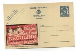 ENTIER POSTAL BELGIQUE PUBLIBEL N° 485 ALIMENT  VITAMINE DE BEBE ERCULINE - Publibels
