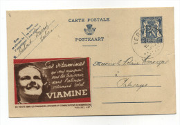 ENTIER POSTAL BELGIQUE PUBLIBEL N° 487  ALIMENT  VITAMINE VIAMINE - Stamped Stationery
