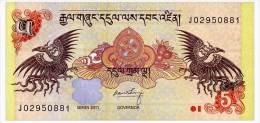 BHUTAN 5 NGULTRUM 2011 Pick 36 Unc - Bhutan