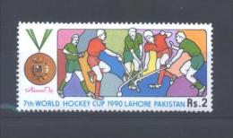 "Pakistan 745 **   (MNH)  ""7th World Hockey Cup - 1990 - LAHORE"" - Hockey (su Erba)"