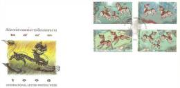 Thailand -1998 International Letter Writing 1998 Commemorative Stamps FDC - Thailand