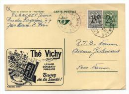 ENTIER POSTAL BELGIQUE PUBLIBEL N° 2499F  THE VICHY  LAXATIF PURGATIF SANTE - Enteros Postales