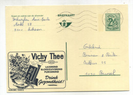 ENTIER POSTAL BELGIQUE PUBLIBEL N° 2500N  THE VICHY  LAXATIF PURGATIF SANTE - Stamped Stationery