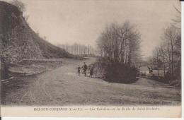 35 CPA ROZ SUR COUESNON Les Carrières Et La Route De St Broladre - Animée - Vitre