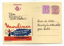 ENTIER POSTAL BELGIQUE PUBLIBEL N° 2674N MOULINEX LIBERE LA FEMME CUISINE - Stamped Stationery