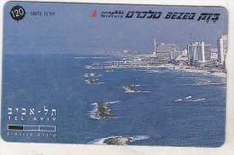 Israel Old Phonecard - 120 Units - BZ 205 - Puzzle - Tel Aviv - Panorama - Left - Israel