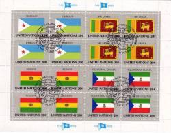 UNO 1981 Flaggen II EQUATORIAL GUINEA New York 376,4Block+Kleinbogen O 6€ Dschibuti Ceylon Bolivien Äquator.Guinea Sheet - Equatorial Guinea