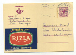 ENTIER POSTAL BELGIQUE PUBLIBEL N° 2636 N RIZZA CHEWING GUM ALIMENT - Werbepostkarten