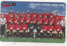 Israel Old Phonecard - 50 Units - BZ 269 -  Israeli Teams - Hapoel Tel-Aviv 1999-2000 - Israel