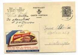 ENTIER POSTAL BELGIQUE PUBLIBEL N° 1437 ALIMENT BACON CHEESE - Werbepostkarten