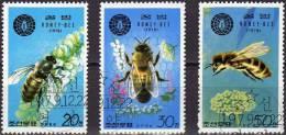 Honig-Bienen WWF 1979 Korea 1929/1 O 1€ Biene Im Flug Apis Mellifera Blüte Fauna Flora Insect Honey Bee Set Of Corea - Korea, South